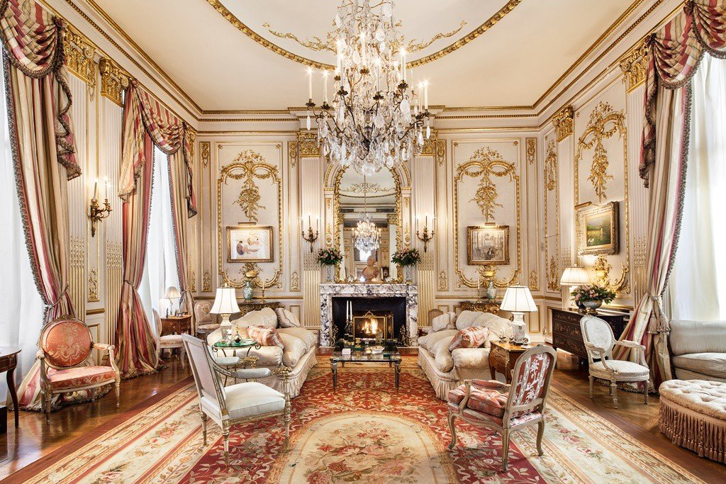 Joan Rivers Penthouse Ballroom has 23 foot ceiling - Corcoran NYC Listing