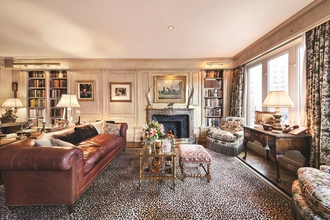 Joan Rivers Penthouse Library - Corcoran NYC listing