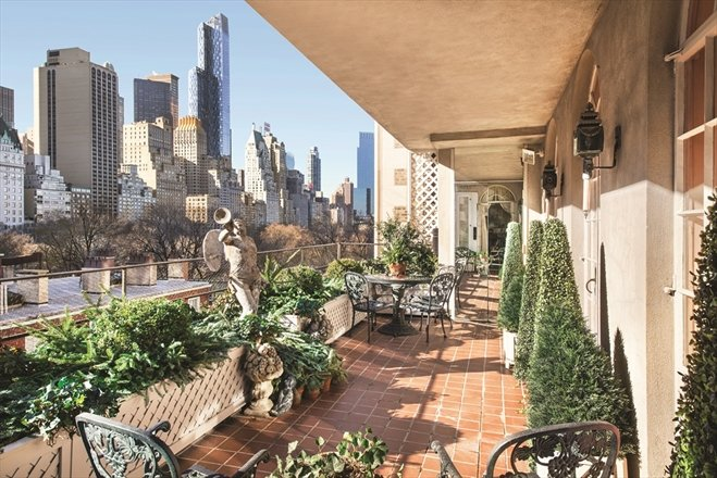 Joan Rivers Penthouse Terrace - Corcoran NYC listing