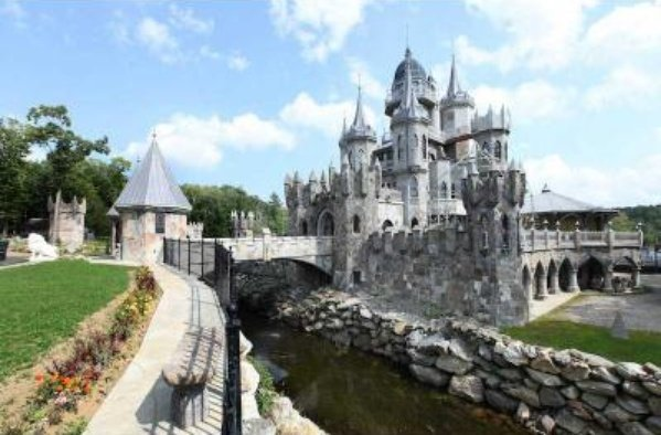 Moat around the Fairytale Castle in Connecticut For Sale