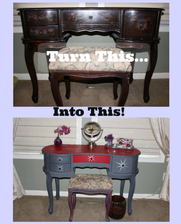 Vanity Before and After by Sassy Townhouse Living - Housekaboodle