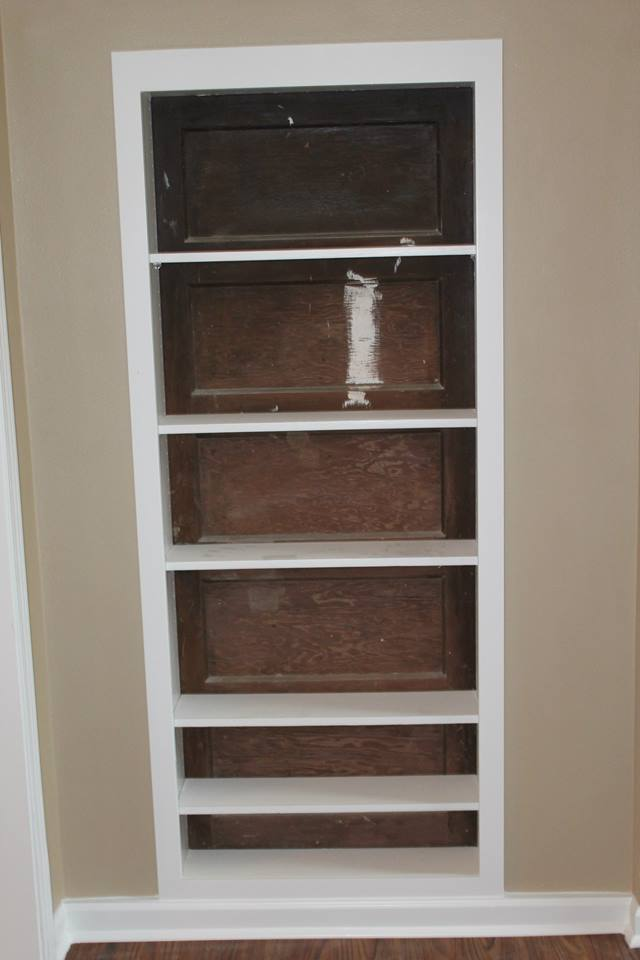 3 Boys and a Dog Miller Manor Hidden door shelf unit