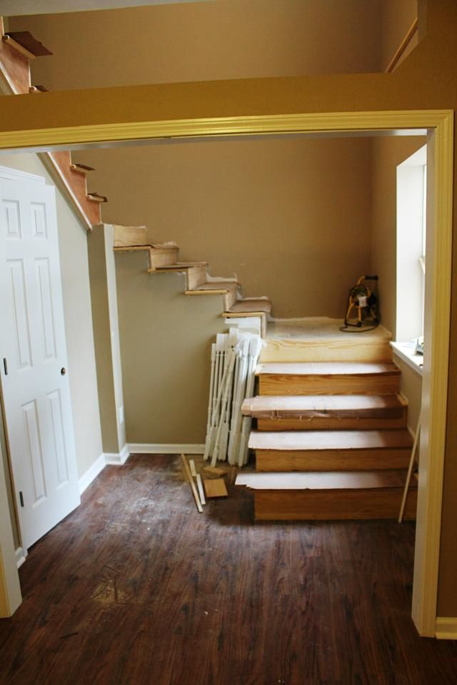3 Boys and a Dog Miller Manor Stairway renovation