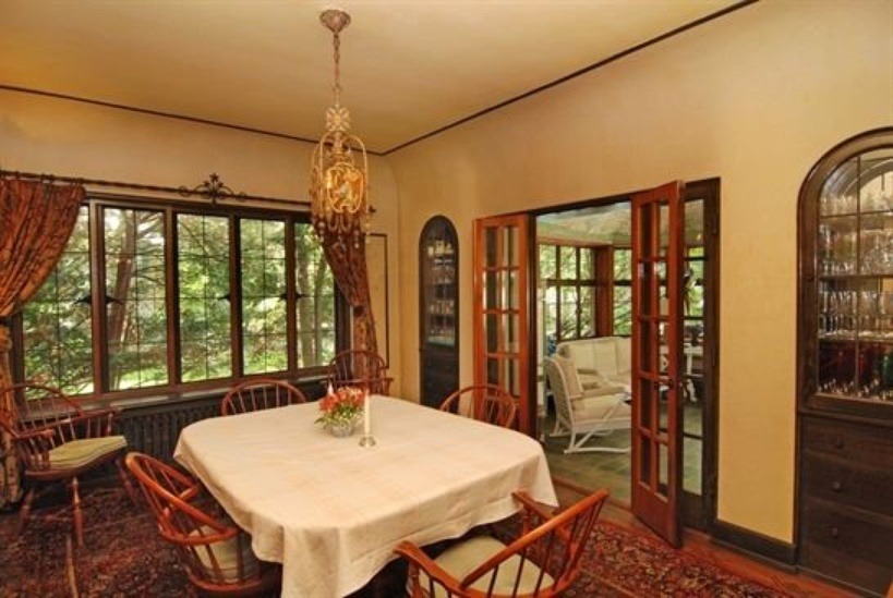 Dining room photo inside charming stone cottage for sale in Lake Forest IL