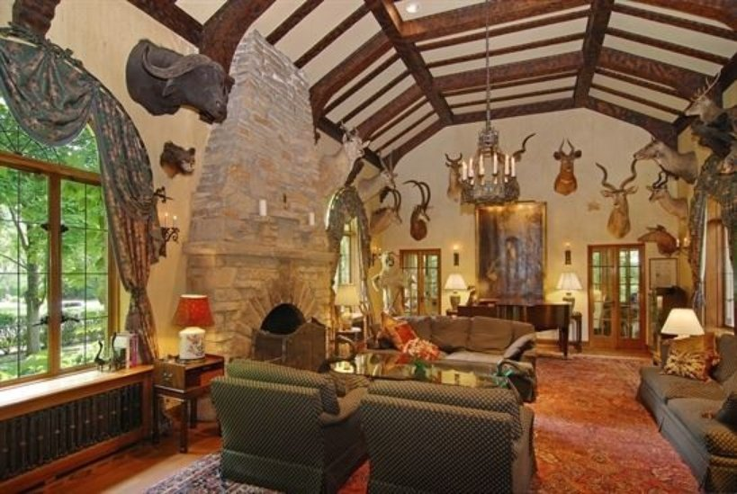House in River Forest IL for sale has a lot of living space and a coach house. Unusual taxidermy collection