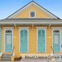 New Orleans Cottage For Sale is Bright Yellow and Blue