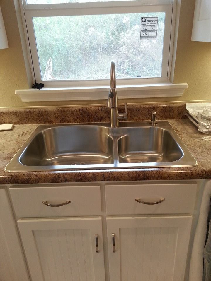 New kithen sink and counter tops