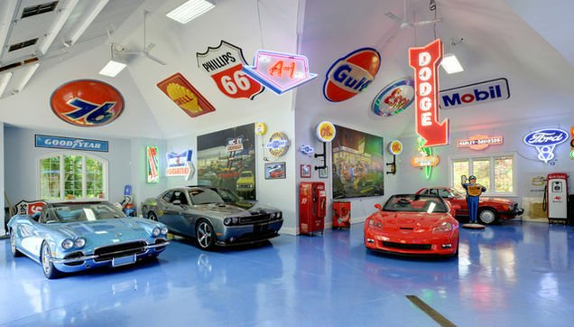 Car collectors garage inside this old world mansion for 1 5 car garage