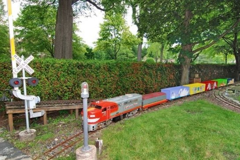 River Forest IL house for sale has train for adults and kids to ride on