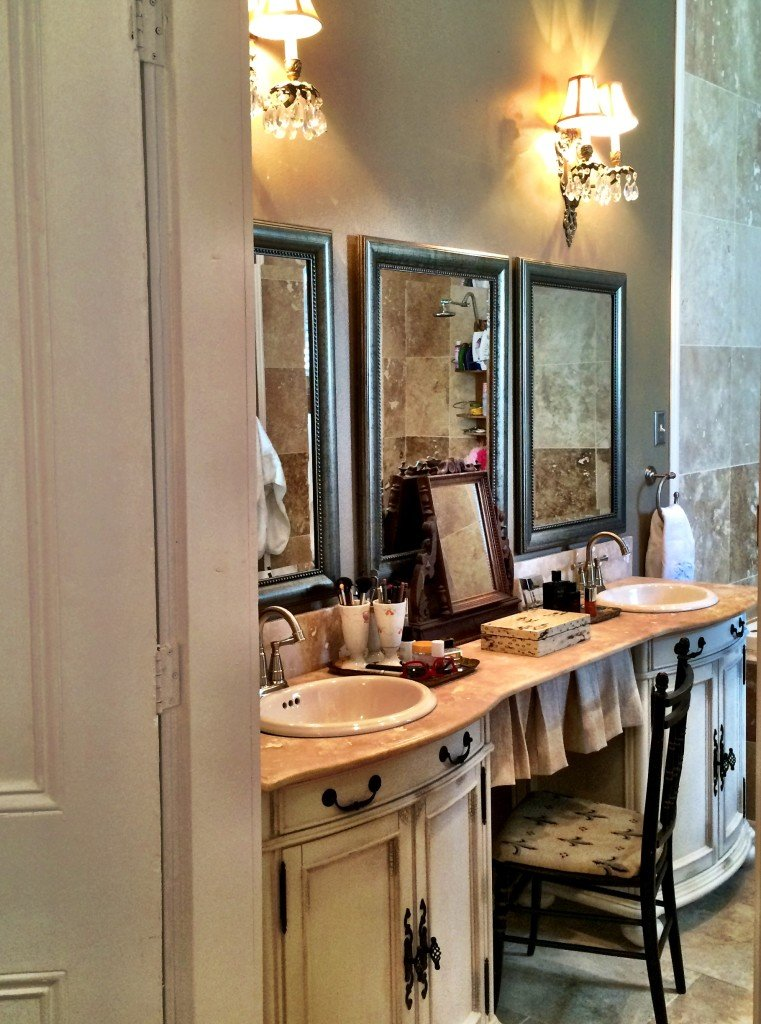 Master Bath vanity - A Pleasant House home tour is an 1875 Greek Revival