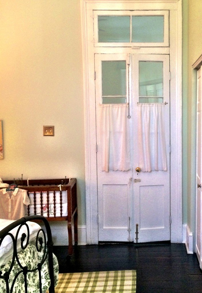 Transom windows and french doors by A Pleasant House home tour - an 1875 Greek Revival