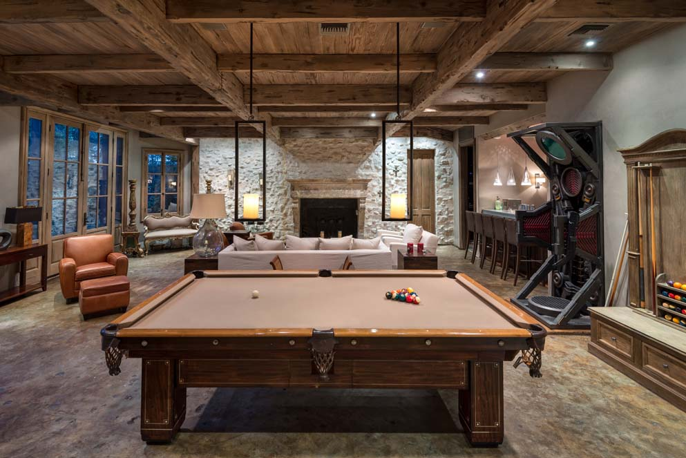 Pool table room in Jeri Ryan's beautiful Encino house