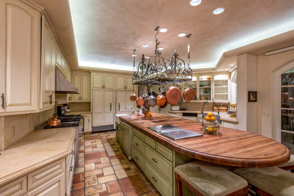 Jeri Ryan's kitchen in her lovely Encino CA house