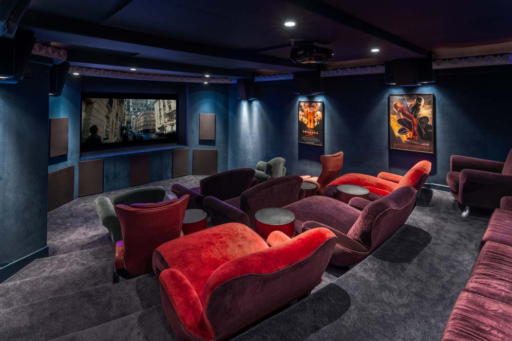 Theater room inside Celebrity Jeri Ryan's house in southern CA
