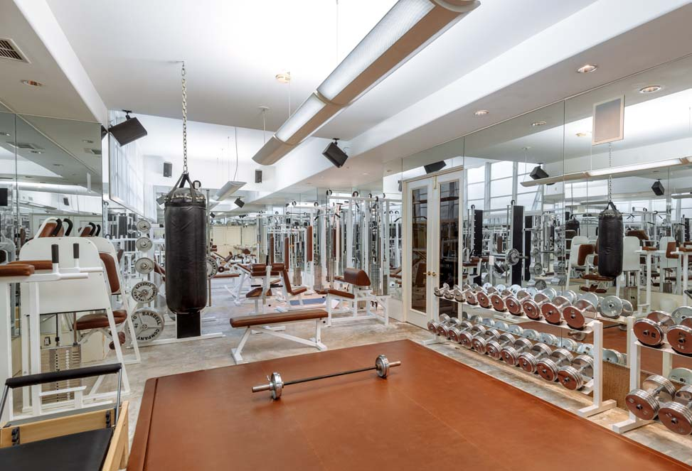 Workout room inside Jeri Ryan's beautiful southern CA house