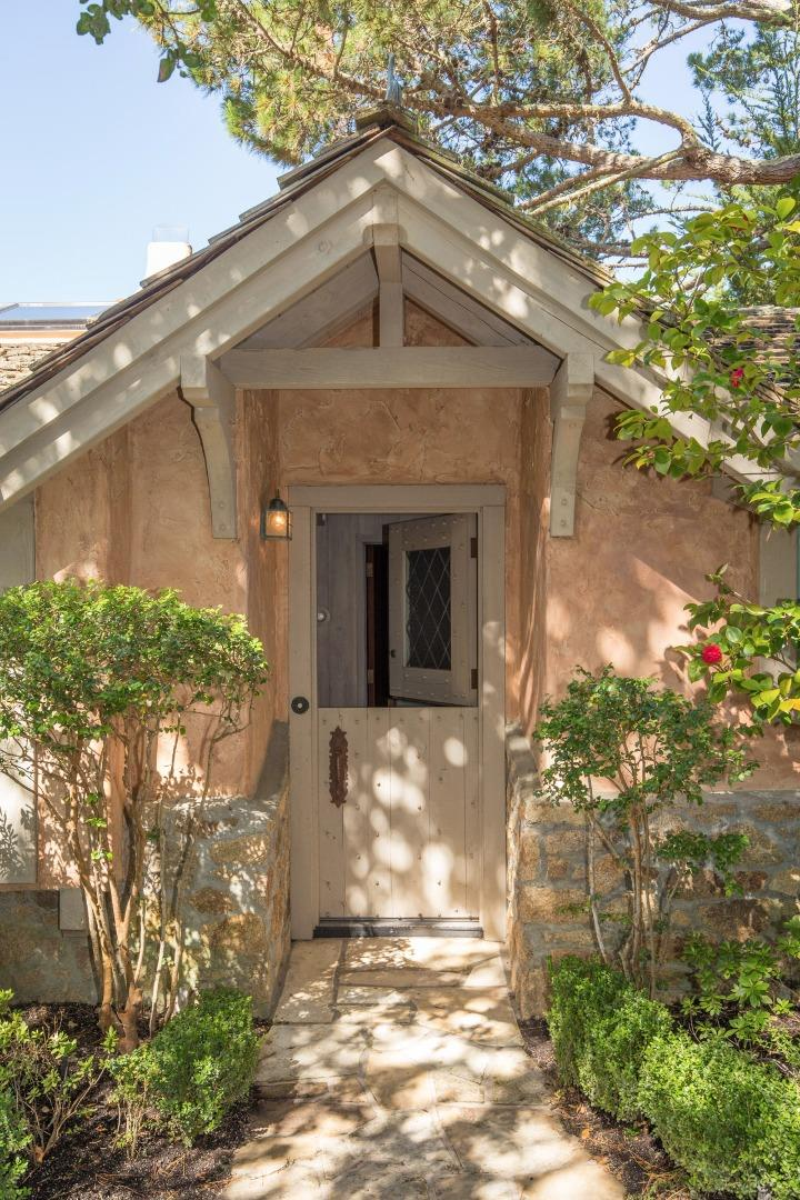 Cottage In Carmel with dutch door entrance