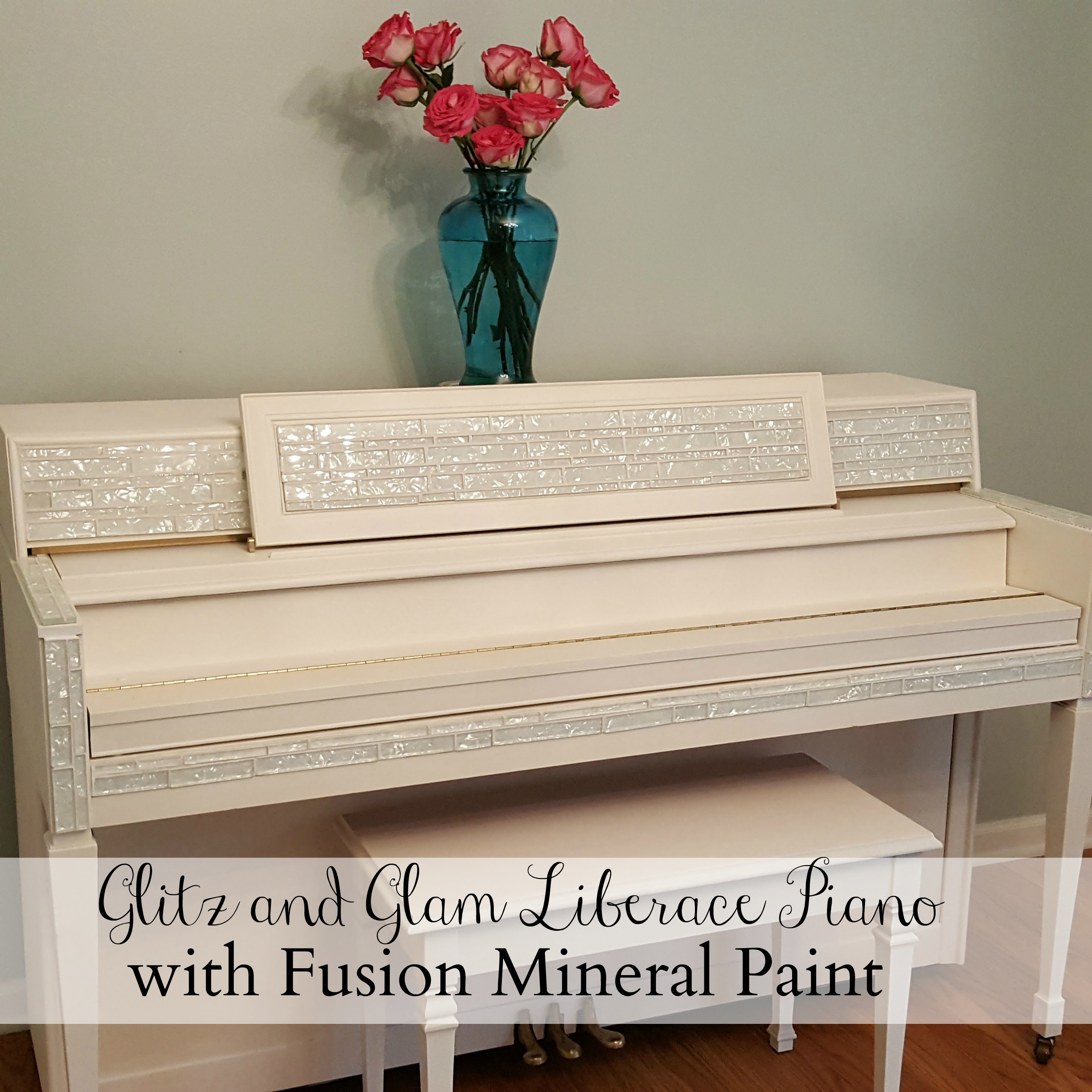 A glitz and glam piano transformation with Fusion Mineral Paint