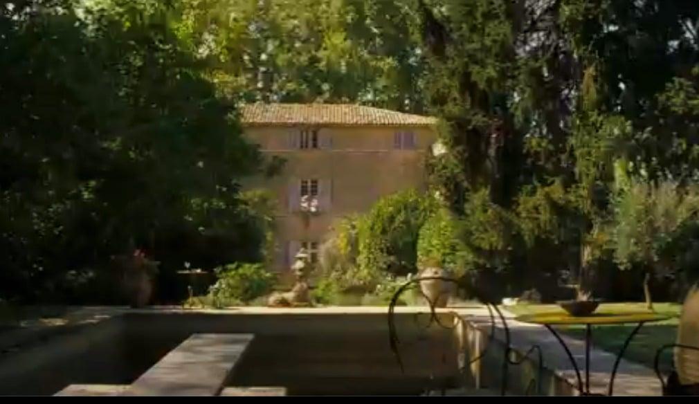A Good Year Chateau la Conorgue movie scene