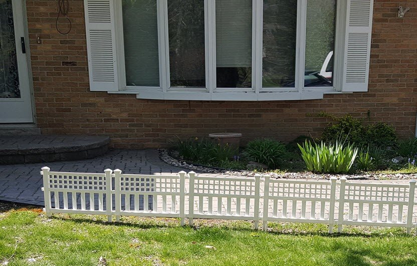 Curb appeal idea with a little white fence - before