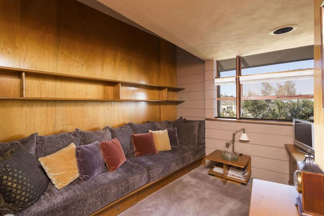 All the furniture is included with the sale of the last house Frank Lloyd Wright designed