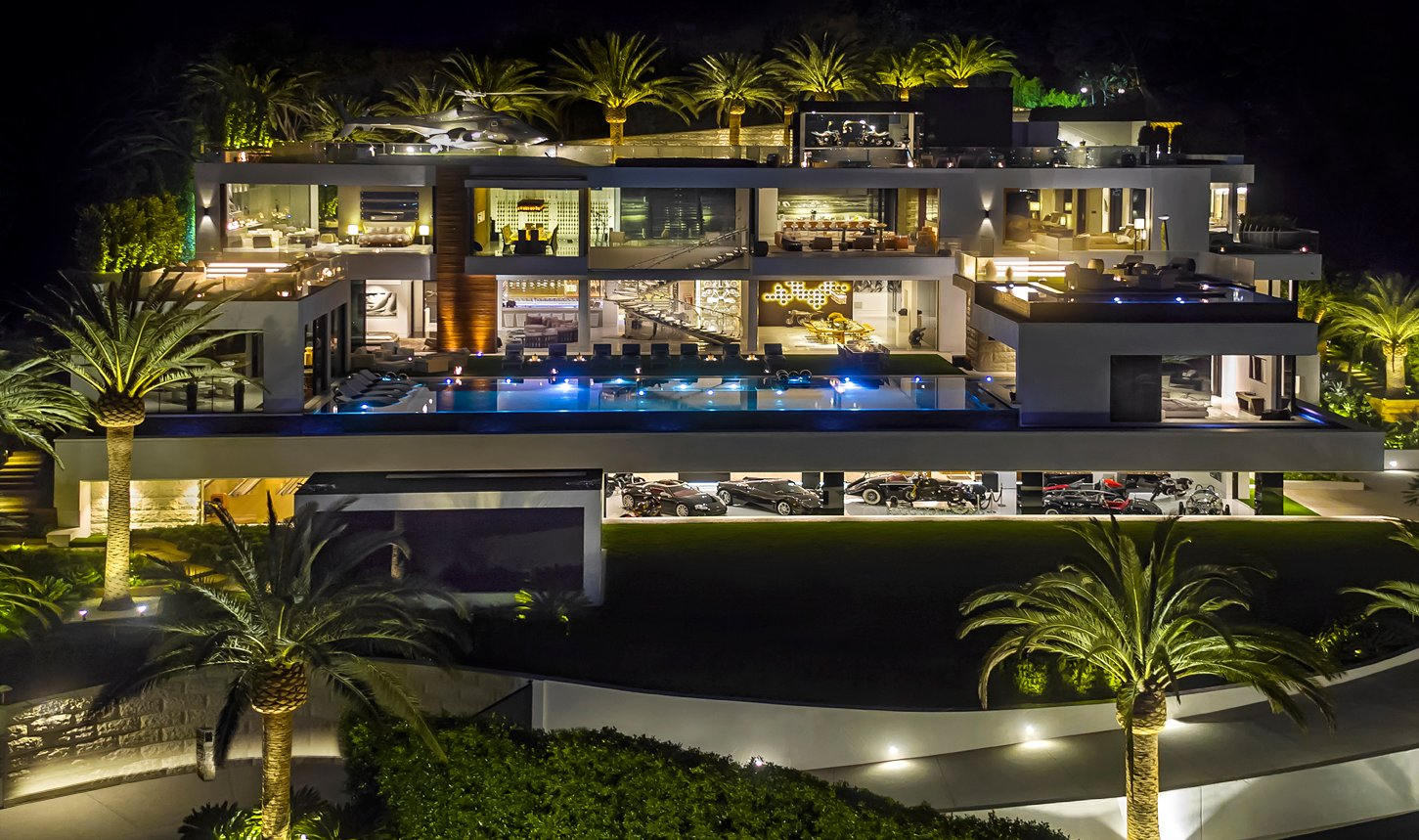 America's Most Expensive Home -BelAirRoadNIGHT view