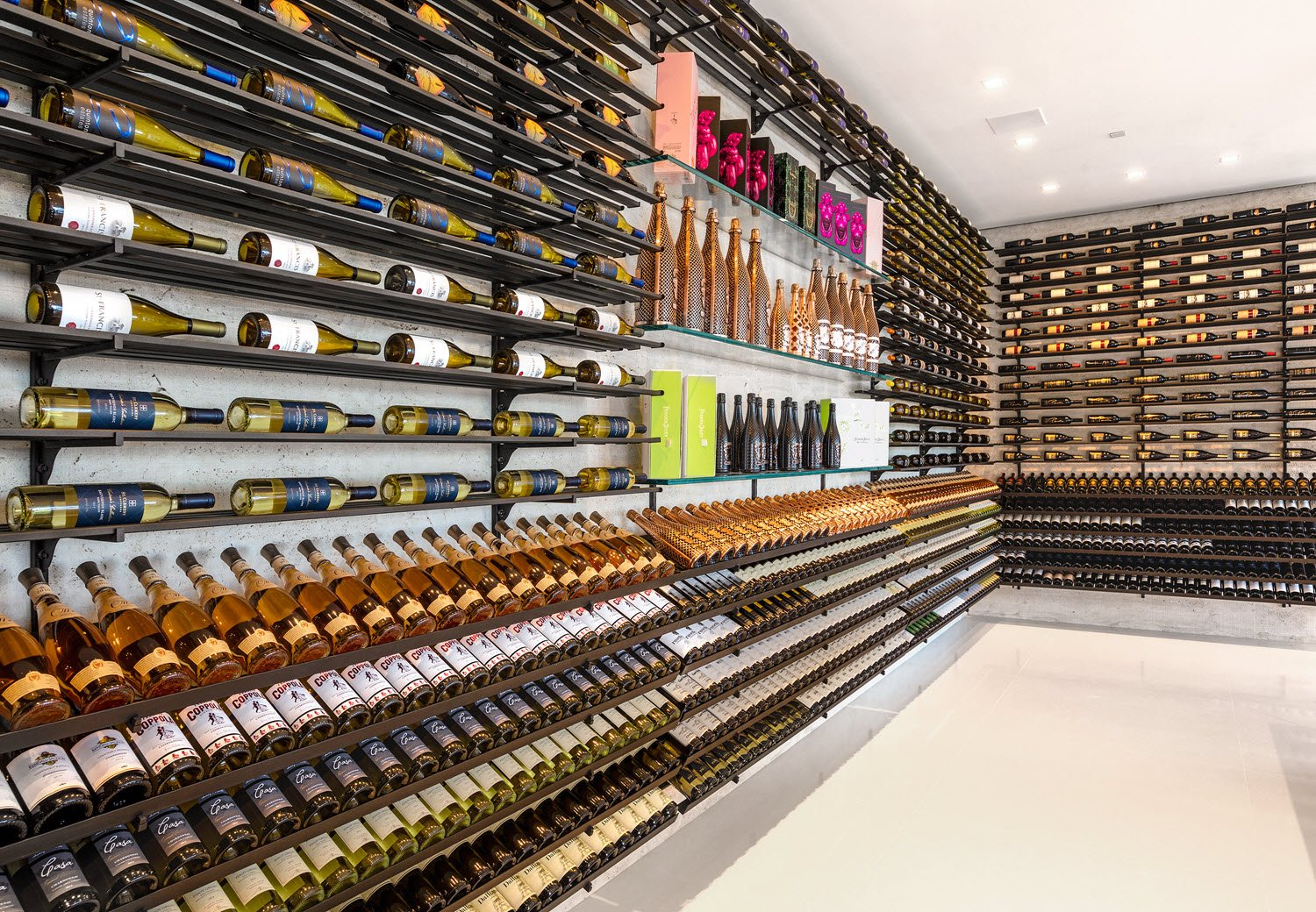 America's Most Expensive Home has 2 fully stocked Champagne and Wine Cellar
