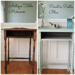 Antique Table Gets A Paint Makeover in Beautiful Poetic Blue