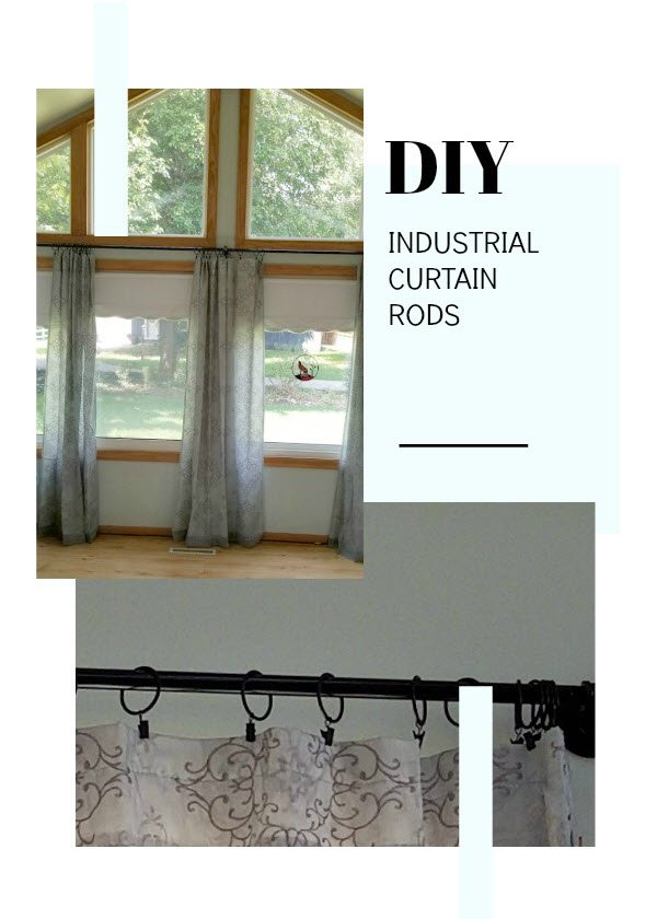 Best DIY Industrial Curtain Rods