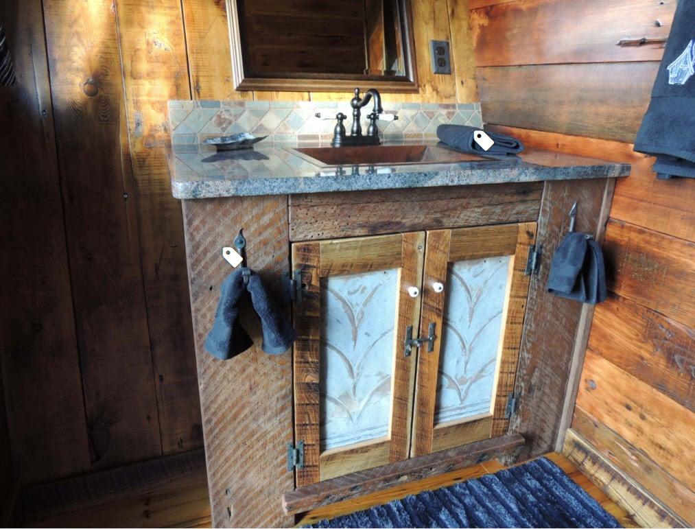 Bathroom by The Rustic Way via Houzz.