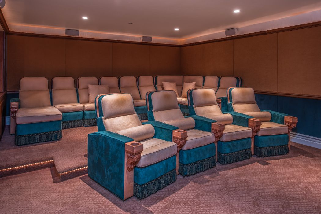Beach Boys Mike Love Pebble Beach Home for sale- Theatre room