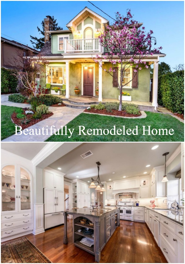 Beautifully remodeled traditional home has stunning architectural details. I want to move right in and make it my home.