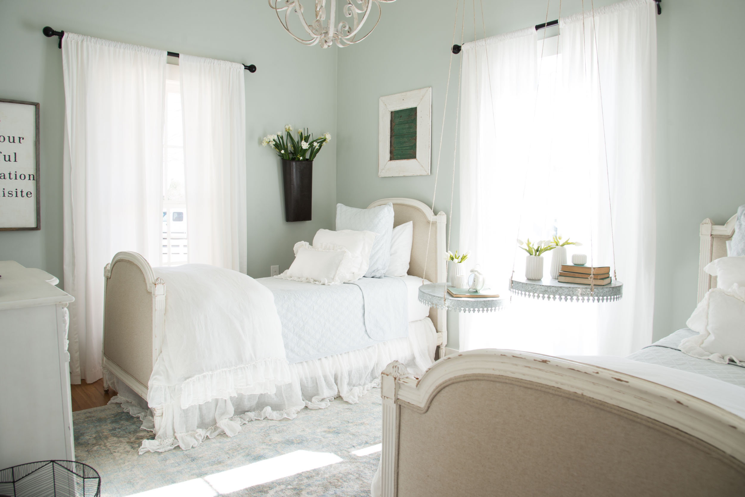 Bedroom - Darling and absolutely wonderful Fixer Upper Magnolia House bedroom