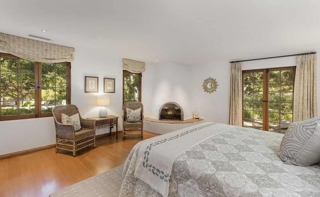Showing one of the bedrooms from the Jeff Bridges compound for sale