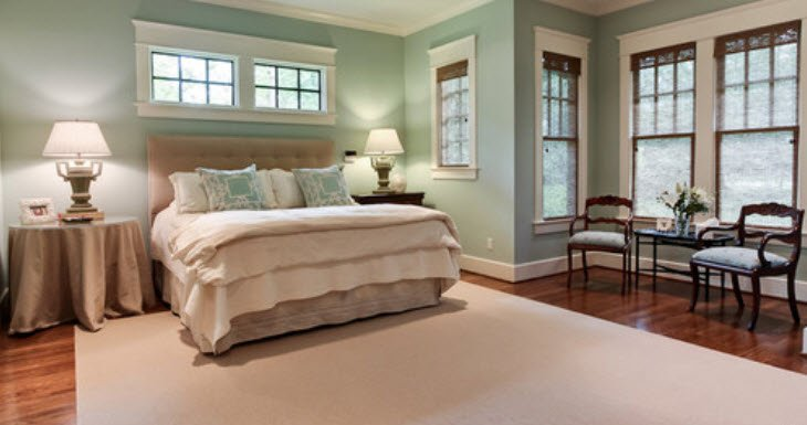 Benjamin Moore Palladian Blue - Gray Paint Colors with Wood Trim