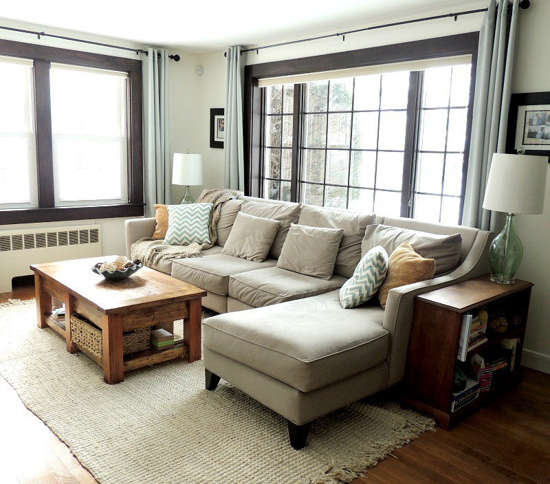 Cape Cod Happy Home Tour - A Wife in Progress Living Room makeover