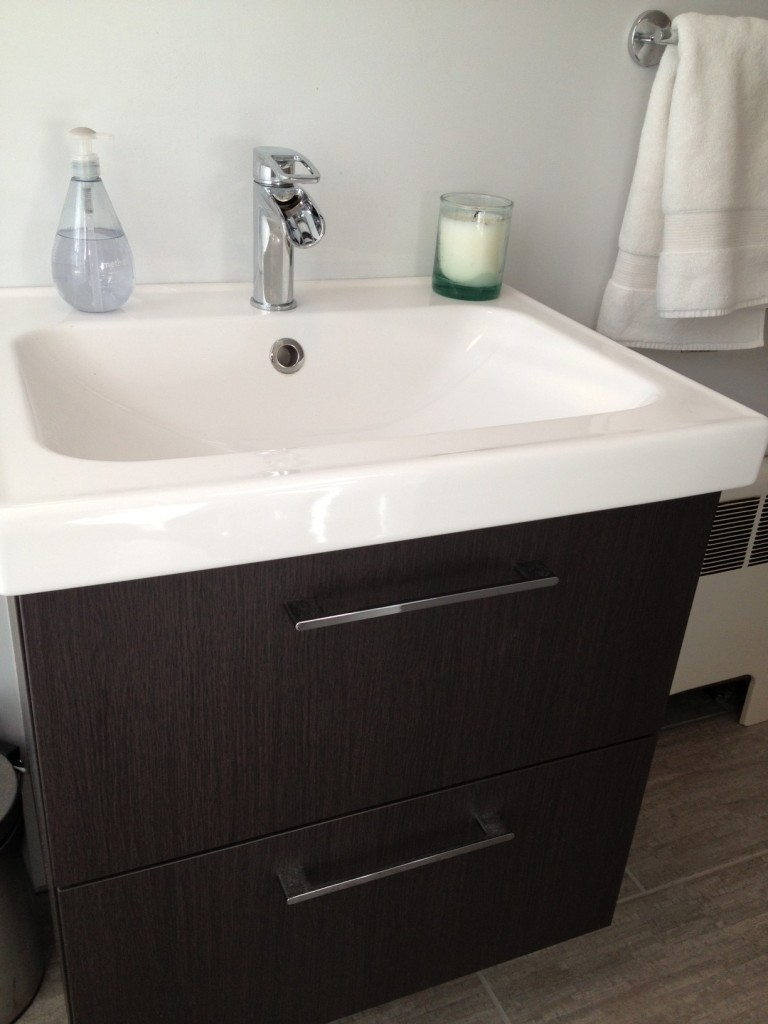 Cape Cod Happy Home Tour - A Wife in Progress bathroom vanity and sink