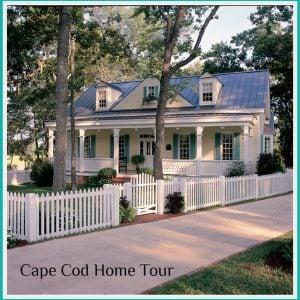 Cape Cod-Style Home Tour. - via HousePlansandMorejpg
