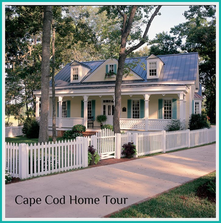 Cape Cod Home Tour. - via HousePlansandMorejpg
