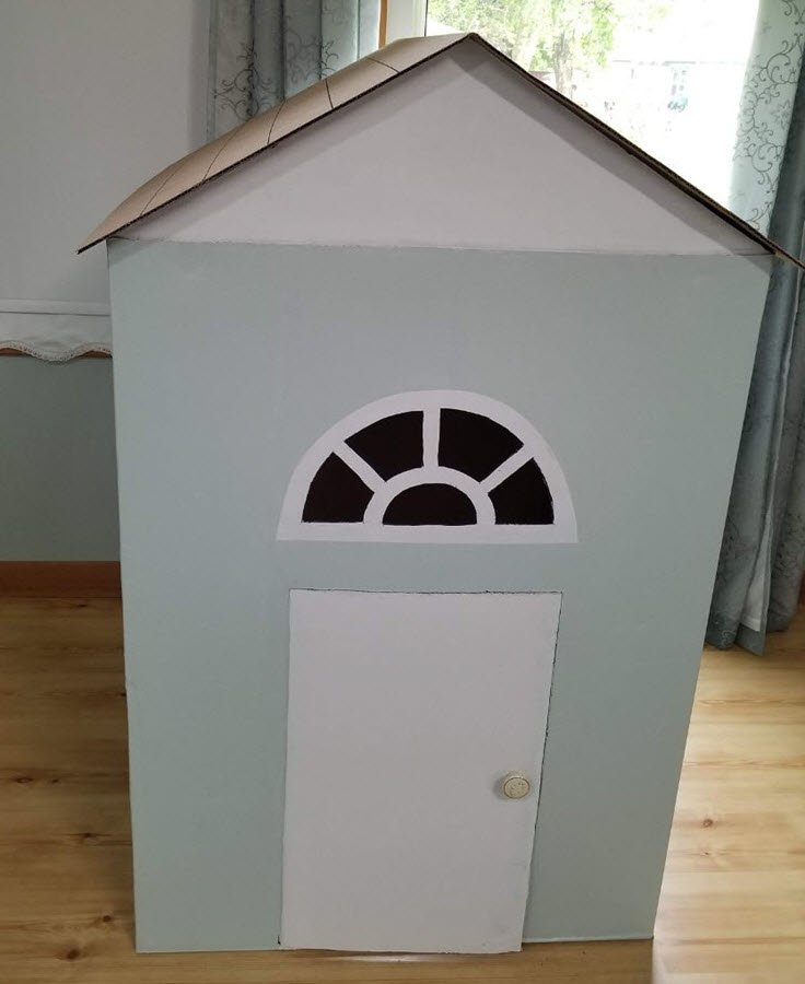 A Fun Cardboard Playhouse Idea