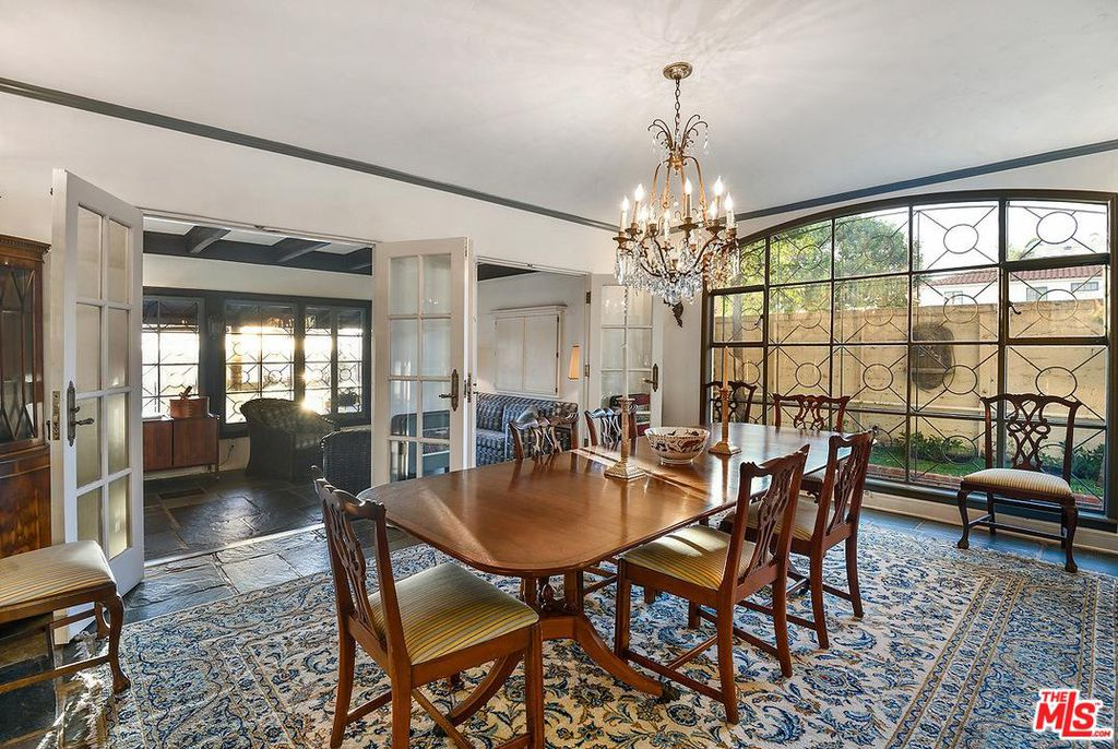 Cary Grant beach house in Santa Monica for sale - Ding Room -own a piece of Hollywood history. The house is French Normandy style