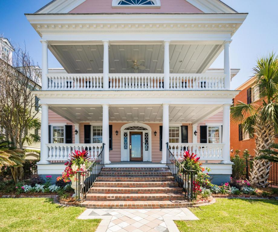 Pretty Pink Plantation House Charleston SC For Sale