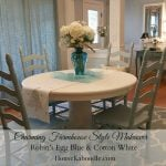 Charming Farmhouse Style Table and Chairs Makeover