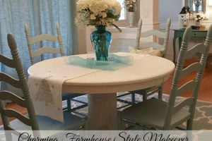 Charming Farmhouse Style Table and Chairs Makeover - Housekaboodle