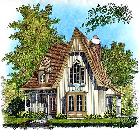 11 Cottage House Plans To Love- Charming Gothic Revival Cottage