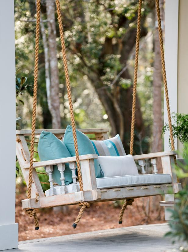 Charming custom swing on the HGTV Smart Home 2018