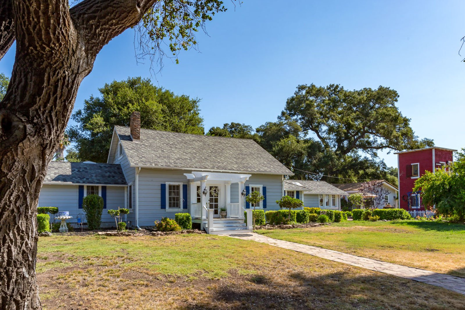 Charming Updated Historic Adobe Home in Valley Center CA for sale has a cute cottage vibe.