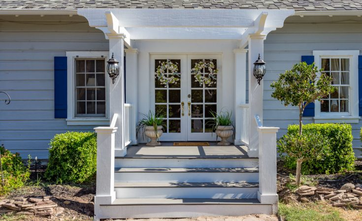 Welcoming front porch on enchanting country estate Adobe Home for sale in Valley Center CA