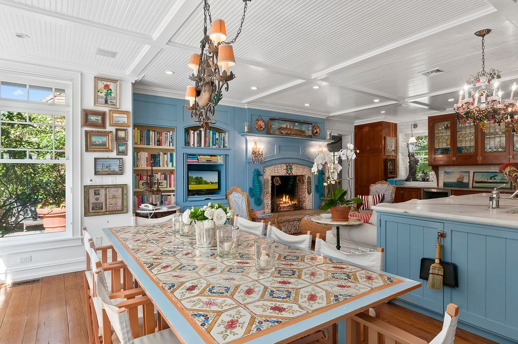Christie Brinkley Selling Hamptons Tower Hill - Kitchen Dining