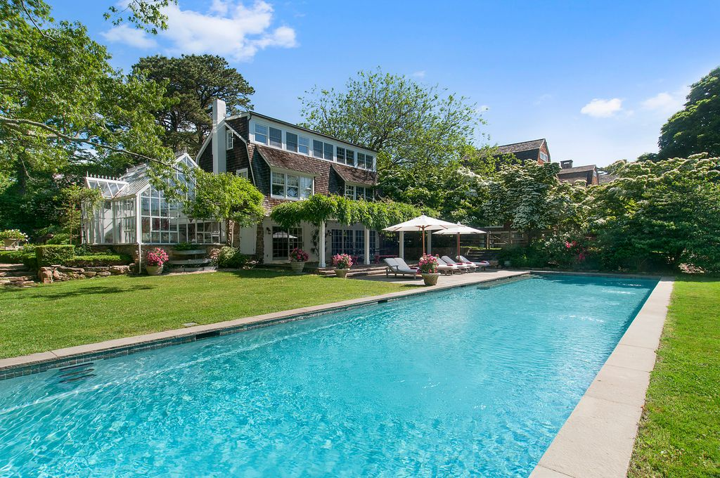 Christie Brinkley Selling Hamptons Tower Hill - Heated Pool