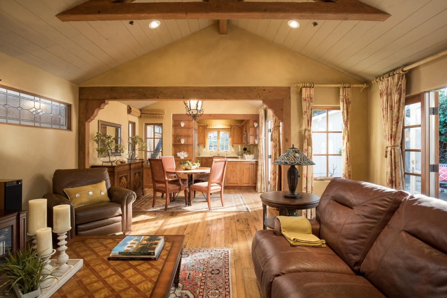Classic Board and Batten Cottage in Carmel-by-the-Sea for sale -Living Room